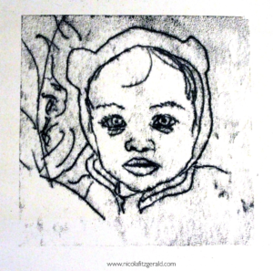 Little Bear, monoprint
