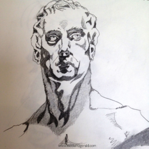 National Portrait Gallery Bust, pencil