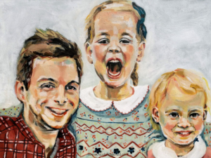 S, P and M, oil on canvas